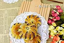 红豆蓉花式面包卷的做法