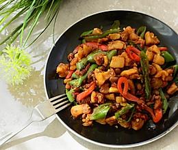 家常菜-辣椒炒油渣的做法