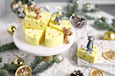 新年爆款!猫和老鼠最爱的芒果奶酪慕斯