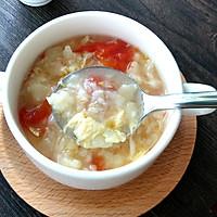 香滑番茄鸡蛋疙瘩汤#急速早餐#的做法图解5