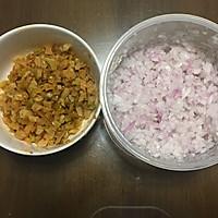 苏式榨菜鲜肉月饼#手作月饼#——黑暗料理也有春天的做法图解3