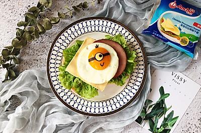 元氣小黃人太陽蛋營養三明治