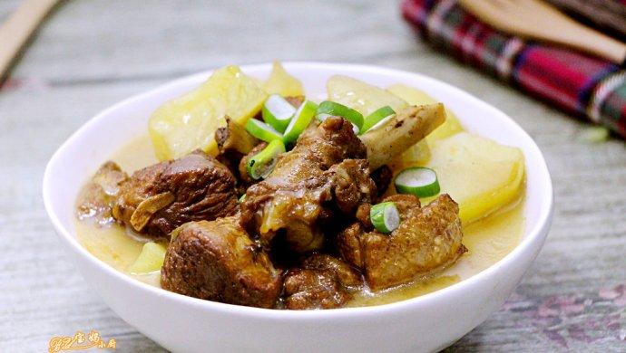 半片鸭炖土豆#樱花味道#