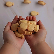 """#甜蜜暖冬,""""焙""""感幸福#可爱小鱼奶酪饼干"""