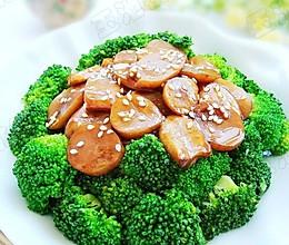杏鲍菇扣西兰花的做法