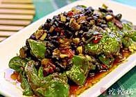 干豆豉煎虎皮青椒的做法