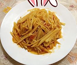 西红柿炒土豆丝#我要上首页清爽家常菜#的做法