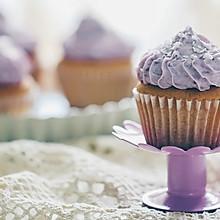 【独创】香草紫薯椰蓉奶油海绵Cupcake(杯蛋糕)