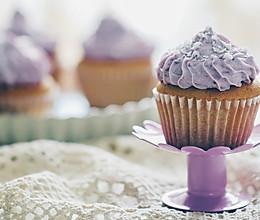 【独创】香草紫薯椰蓉奶油海绵Cupcake(杯蛋糕)的做法