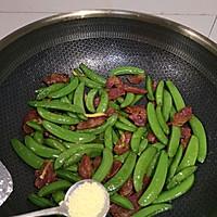 #肉食主义狂欢#广式腊肠炒甜豆的做法图解3
