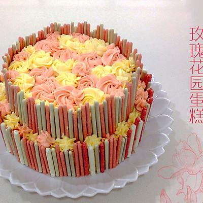 奶酪糖霜玫瑰花园蛋糕