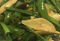 辣椒蘑菇炒油麦菜的做法