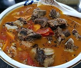 牛肋骨西红柿•浓汤的做法