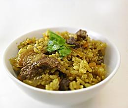 咖喱羊肉抓饭的做法