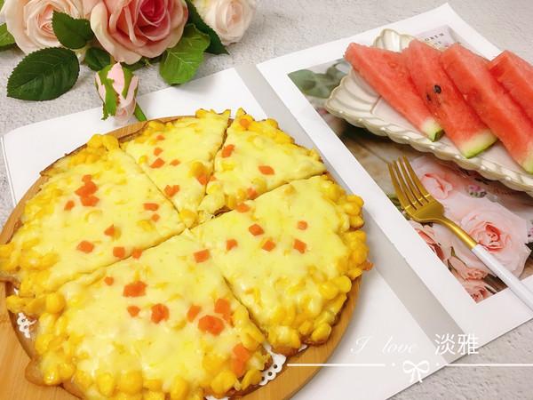 无需烤箱的披萨---芝士玉米烙的做法