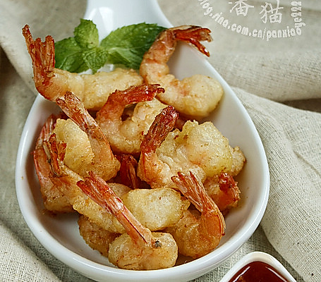 软炸凤尾虾的做法