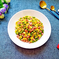 三色小炒#花10分钟,做一道菜!#的做法图解10