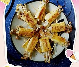 干豆腐金针菇卷的做法