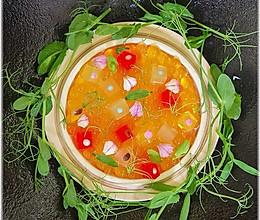 分子料理《木瓜鱼子酱》的做法