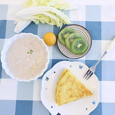 宝宝辅食微课堂  白菜1+1早餐 简单美味