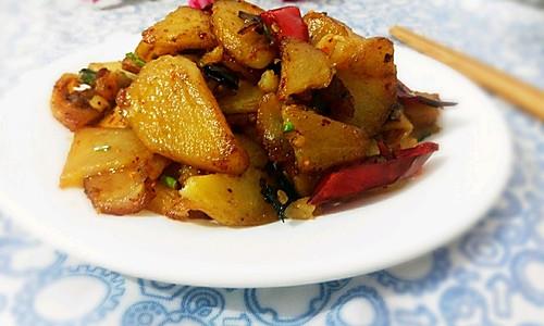 干煸土豆片#自己做更健康#的做法