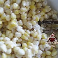 炼乳玉米烙的做法图解3