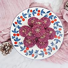 #快手又营养,我家的冬日必备菜品#紫薯燕麦饼