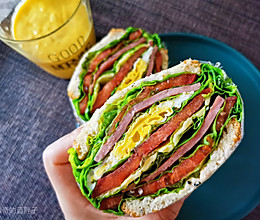 详解超简单的减脂三明治的做法