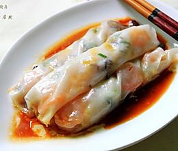 香菇鲜虾肠粉的做法