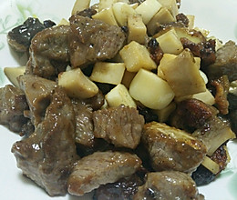 杏鲍菇黑胡椒牛肉粒的做法