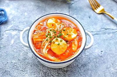 茄汁日本豆腐金针菇
