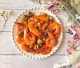#快手又营养,我家的冬日必备菜品#快手杏鲍菇爆虾的做法