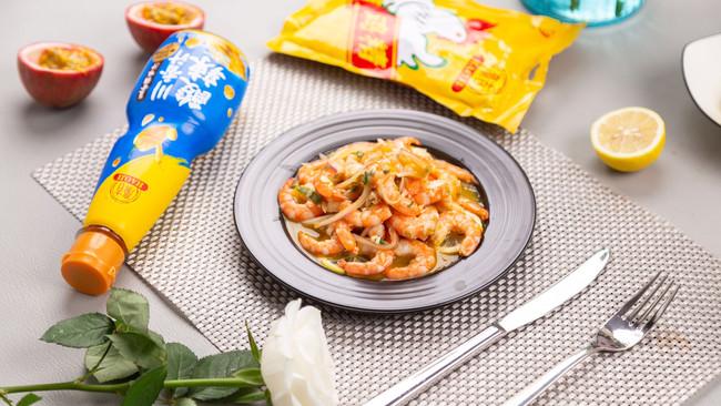 柠檬百香酸辣虾的做法