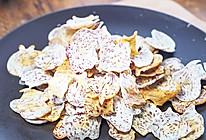 非油炸「芋头脆片」,嘎嘣脆秒杀膨化薯片,自制饱腹小零食!的做法