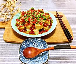 剁椒豆腐皮蒸肉卷的做法