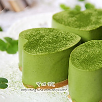 #豆果5周年#四叶草抹茶慕斯蛋糕的做法图解9