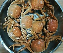 水煮河蟹的做法