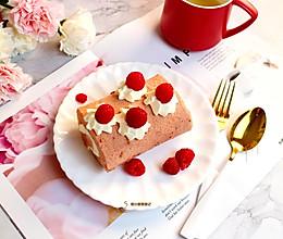 树莓蛋糕卷#百变水果花样吃#的做法