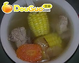 小排粟米汤的做法