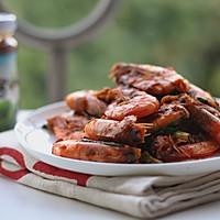 香菇酱烧基围虾的做法图解9