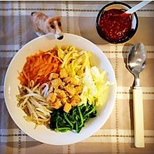 一人食之韩国拌饭(素食主义)