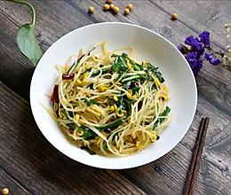 家常菜素炒黄豆芽的做法