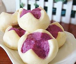 很惊艳的紫薯开花馒头的做法