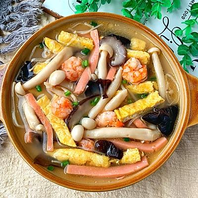 低卡减脂餐❗️好喝不胖的三鲜菌菇汤❗
