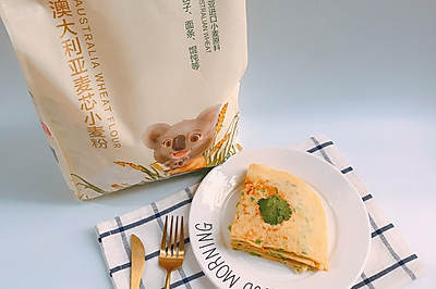 一口清香——青椒鸡蛋饼