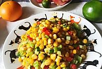 超级快手菜~玉米彩蔬的做法