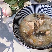 花生菜脯猪骨粥