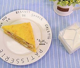 10分钟的快手早餐——芝士火腿三明治的做法