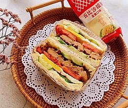#321沙拉日#简单有营养的鸡腿三明治的做法