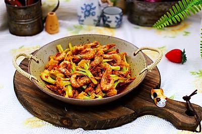 辣爆菜花海虾